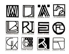 Monogrammes des artistes de la Sécession Viennoise
