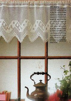 Crochet Curtain Pattern, Crochet Curtains, Lace Curtains, Thread Crochet, Crochet Stitches, Crochet Home, Free Crochet, Knit Crochet, Crafts