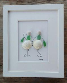 Pebble art friends glas shells Friends pebble by pebbleartSmiljana
