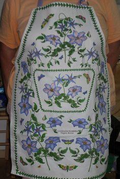 Flower fabric Apron Heavy weight Apron lilac by AlsCraftyCorner