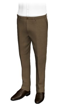 Meran Brown slim fit pants, wool and polyester.The fabric of these custom pants reminds us of the of field soil. Their honey-colored buttons, combine perfectly with the darker fabric of the pants, which display roughness and strength. Perfect for classic and formal occasions. Slim Fit Pants, Mens Suits, Custom Shirts, Khaki Pants, Strength, Honey, Buttons, Collections, Display