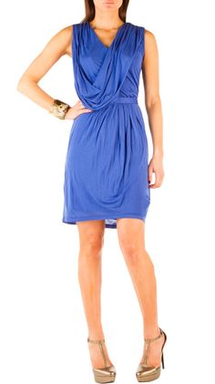 Belted Drape Dress -