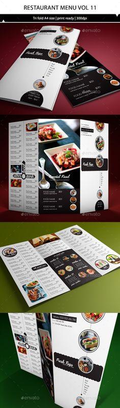 Restaurant Menu A4 Trifold Template #design Download: http://graphicriver.net/item/restaurant-menu-a4-trifold-vol11/10357063?ref=ksioks