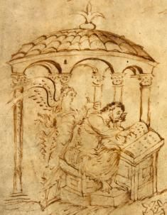 Utrecht Psalter, fol. 1v, psalm 1: Beatus vir One of my favorite medieval manuscripts, the Utrecht Psalter, is now online!