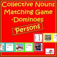 Collective Nouns - Matching Game - Persons