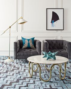 Curve appeal. View more Jonathan Adler furniture, lighting, and decorative accessories that embody a Modern American Glamour style.