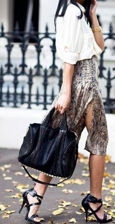 Animal print, fabulous bag and killer shoes!