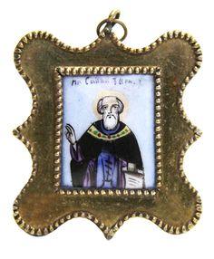 Святой Преподобный Савва Сторожевский, Звенигородский чудотворец, Россия 1907 год.