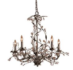 View the Elk Lighting 8054/5 Crystal 5 Light Up Lighting Chandelier from the Circeo Collection at Build.com.