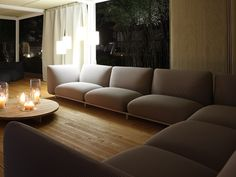 MELLOW 2 seater sofa by Paola Lenti design Francesco Rota