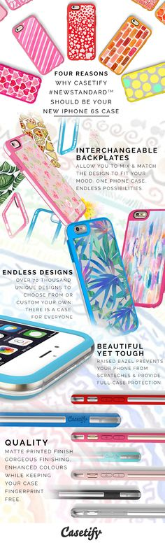 Here is 4 reasons why @Casetify 's New Standard is the case for your new iPhone 6S. Find out more here // http://www.casetify.com/iphone6s