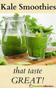Have you wondered how to make kale smoothies that taste good? Everyone seems to have the same concerns and nose crinkling effect when it comes to the taste of these nutrient packed green drinks. Kale Smoothies, Fruit Smoothie Recipes, Smoothie Prep, Juice Recipes, Yummy Recipes, Diet Recipes, How To Make Kale, Blackberry Smoothie, Veggie Snacks
