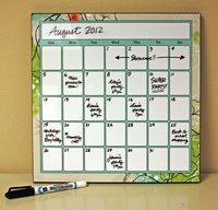 Here's a calendar project idea that pairs up the wildly popular Enchanted Digital Power Palette artwork (US Canada) with the fun dry-erase calendar project idea. We featured this project in our product cases at Showcase this year, and it definitely stole the show. Creating this project is easy peezy - it's available on the Digital Center as a predesigned template. All you have to do is visit the 12x12 Photo Panel page (US Canada), add the project to your cart and viola - you're finished. NO…
