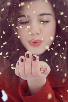 glitter blowing