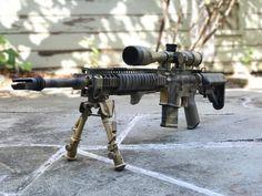 "@coltfirearms #le6920 lower @danieldefense omega 12"" @bravocompanyusa #mk12 stripped upper -"