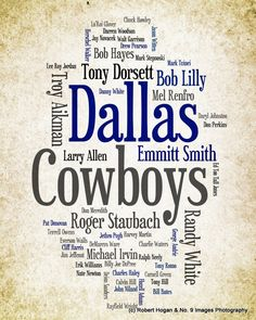Dallas+Cowboys++Greatest+Football+Players++8x10+Word+by+no9images,+$15.00