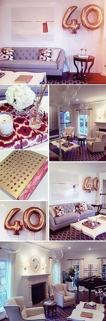 40th birthday party, design by swedlow design