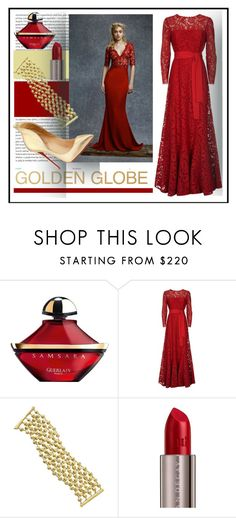 """""""golden globe 2017"""" by sandevapetq ❤ liked on Polyvore featuring Oris, Guerlain, ESCADA, Marco Bicego, Urban Decay and Christian Louboutin"""