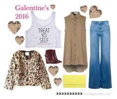 """""""Treat Yo Self Galentine's Day"""" by customizedgirl ❤ liked on Polyvore featuring Chloé, Henri Bendel, Copper Key, Glamorous, women's clothing, women, female, woman, misses and juniors"""
