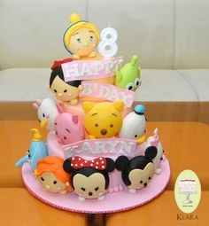 Baby Shower Cakes And Frosting Recipes Mini Tortillas, Tsum Tsum Party, Tsumtsum, Different Cakes, Disney Cakes, Frosting Recipes, Icing Recipe, Novelty Cakes, Cute Cakes