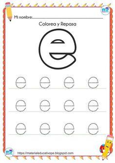 Las Vocales: Fichas Y Material Interactivo - Material De Alphabet Tracing Worksheets, Alphabet Coloring Pages, Alphabet Activities, Preschool Printables, Preschool Worksheets, Preschool Activities, Kindergarten Reading Activities, Abc Phonics, Literacy Stations