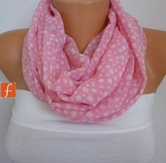 Hey, I found this really awesome Etsy listing at https://www.etsy.com/listing/98758459/on-sale-spring-scarf-pink-polka-dot