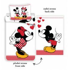 Disney Minnie Mouse Kissing - Dekbedovertrek - Eenpersoons - 140 x 200 cm - Multi Disney Kiss, Minne, Minnie Mouse, Mousse, Disney Characters, Fictional Characters, Snoopy, Extra Groot, Art
