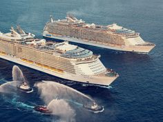 L'Oasis of the Seas et l'Allure of the Seas #RoyalCaribbean #Cruises #Croisiere #Navire #RCI #OasisoftheSeas #AllureoftheSeas