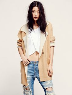 Free People Big on Comfort Sweater Jacket at Free People Clothing Boutique
