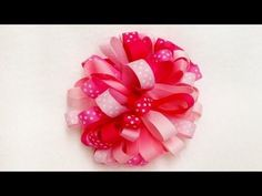 How To Make A Loopy Puff Ribbon Hair Bow