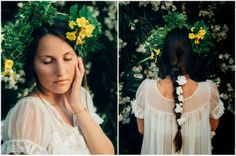 #flowercrown #flowers #portrait #romantic #lace #hairstyle #braid #pretty #photography