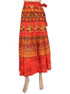 Gypsy Wrap Around Skirt, Boho Wrap Skirt, Crimson Red Cotton Long Skirts Mogul Interior,http://www.amazon.com/dp/B00CEROQ5C/ref=cm_sw_r_pi_dp_GHaCrb3A9F9543BB
