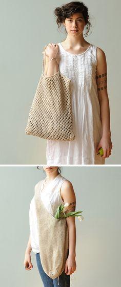 bolsas de ganchillo minimal