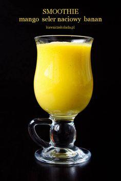 Smoothie z mango i selera naciowego Healthy Diet Recipes, Healthy Eating, Smoothies, Juice, Mango, Good Things, Fruit, Breakfast, Tableware