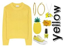 """Yellow"" by chocolart ❤ liked on Polyvore featuring Acne Studios, Converse, Miss Selfridge and Cynthia Rowley"
