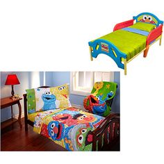 sesame street elmo toddler bed w bedding bundle more
