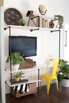 Entertainment stand & desk in one