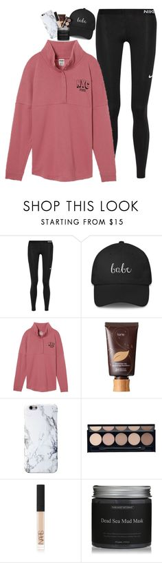 """""""{we'll get in the taxi, kiss in the backseat, and tell the driver make the radio play}"""" by graciegirl2015 ❤ liked on Polyvore featuring NIKE, tarte, Witchery and NARS Cosmetics"""