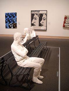 George Segal sculpture at The Metropolitan Museum of Art