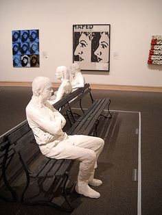 George Segal sculpture at The Metropolitan Museum of Art George Segal, Plaster Cast, Tape Art, Modern Sculpture, Metropolitan Museum, Van Gogh, Figurative, Lonely, Sculpting