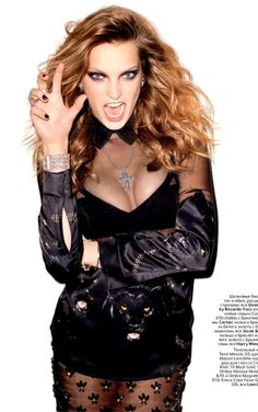 Daria Werbowy by Terry Richardson for Vogue Russia Oct. 2011 | Fashion photography | Editorial