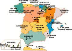 mapa con capitales