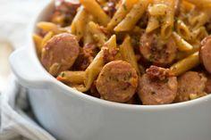 Sun-Dried Tomato & Sausage Pasta  - Delish.com