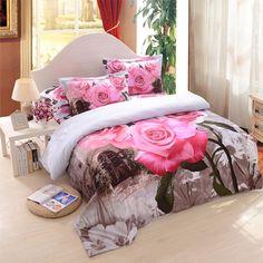 3D Flower Bedding Set 100% Cotton . Free Shipping