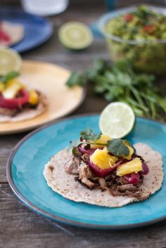 Pulled Pork Street Tacos (with Cassava Flour Tortillas). Gluten-free, grain-free, nut-free, paleo-friendly. #paleo