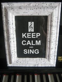 decoupage music paper. Maybe 'Keep Calm and Play Viola'