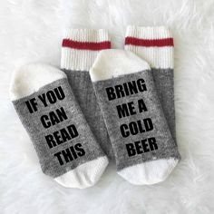 If You Can Read This Bring Me a Glass of Wine Socks - Wine Socks - Merino Wool - Camping Socks - Boot Socks - Christmas Gift - Gift under 15 Beer Socks, Fox Socks, Cabin Socks, Merino Wool Socks, Diet Coke, Christmas Gifts For Her, Christmas 2016, Simple Christmas, Novelty Items