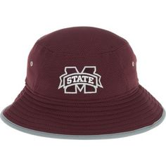 New Era Men's Mississippi State University Training Bucket Hat (Red Dark, Size One Size) - NCAA Licensed Product, NCAA Men's Caps at Academy Sports