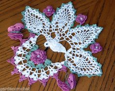 Hummingbird Irish Rose Crochet Doily Pattern                                                                                                                                                                                 More