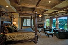 Master Bedroom - Oh so nice!!!!                but this is a cool room and what a view